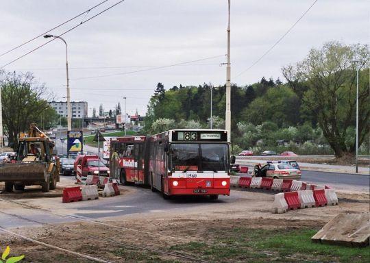 Linia zastępcza na czas przebudowy torowiska