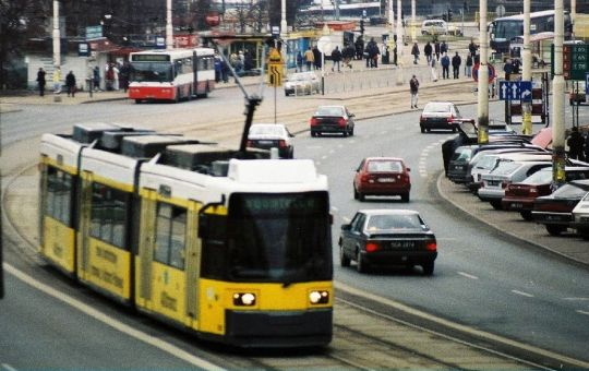 Niskopodłogowy tramwaj z Berlina na testach w Szczecinie