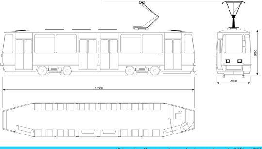 Schemat ogólny wagonu 105Na #736