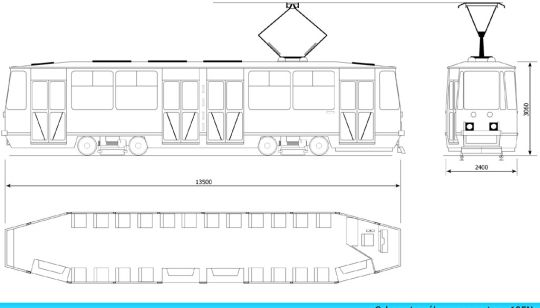 Schemat ogólny wagonu 105Na