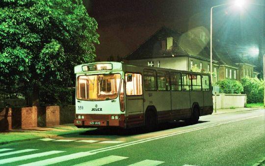 Jelcz M11 na linii nocnej