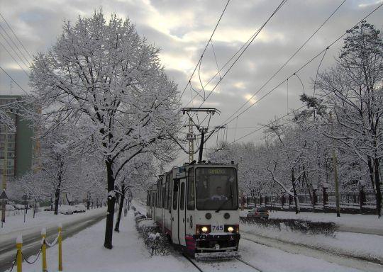 Modernizacja pięknym zimowym rankiem