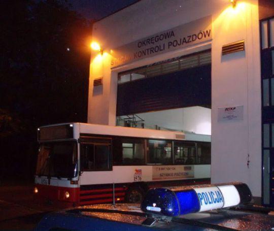 Pierwszy z zatrzymanych autobusów Volvo