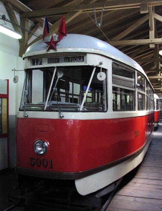 Pierwszy egzemplarz Tatry T1 w muzeum w Pradze