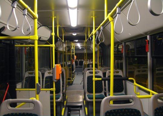 Widok na przedział pasażerski