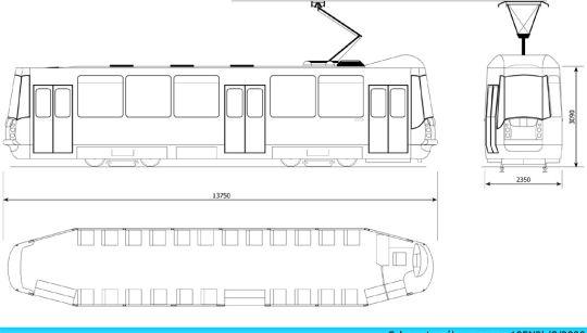 Schemat ogólny wagonu 105N2k/2000