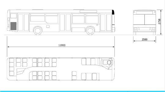 Schemat ogólny autobusu MAN NL223