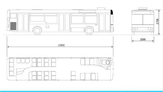 Schemat ogólny autobusu MAN NL283
