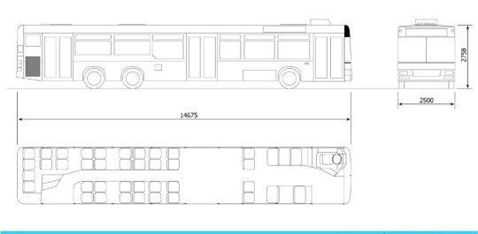 Schemat ogólny autobusu MAN NL313