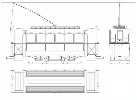Schemat ogólny wagonu Herbrand, numery taborowe 1-102