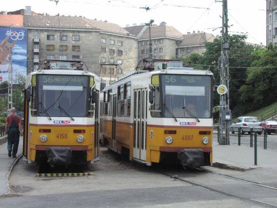 Typowa budapesztańska końcówka, a na niej tramwaje T5C5K