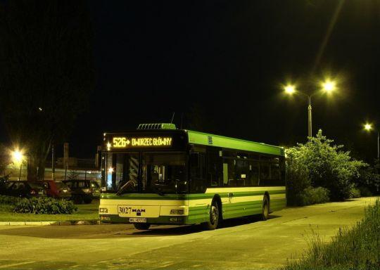MAN NL223 przygotowany do pierwszego kursu linii nocnej 526