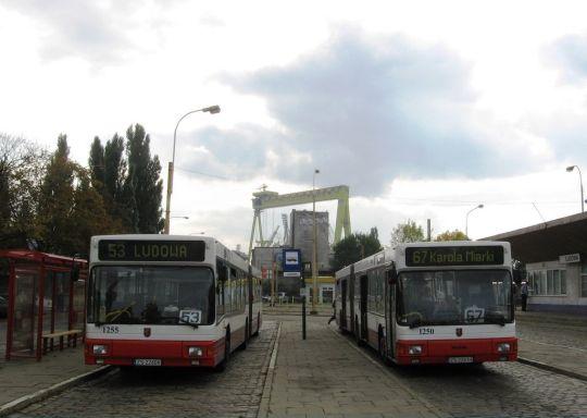 Dwa niskopodłogowe przegubowce na Ludowej