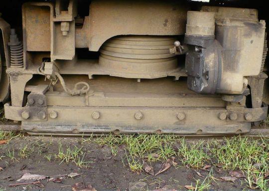Hamulec szynowy w wagonie 105Na