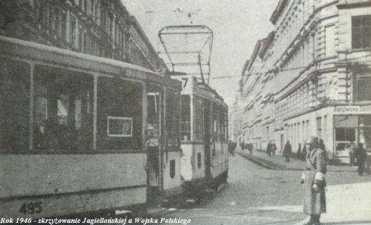 Wagon typu Vulcan na alei Wojska Polskiego