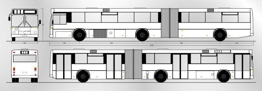 Schemat ogólny autobusu Volvo B10MA / Carrus N204 City z zajezdni Klonowica