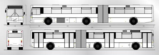 Schemat ogólny autobusu Volvo B10MA / Carrus N204 City z zajezdni Dąbie (1)
