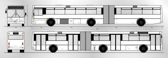 Schemat ogólny autobusu Volvo B10MA / Carrus N204 City z zajezdni Dąbie (2)