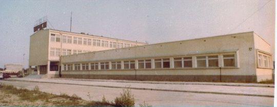Siedziba zajezdni Dąbie w 1978 roku