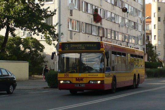 W Legnicy główną część taboru stanowią autobusy marki Neoplan