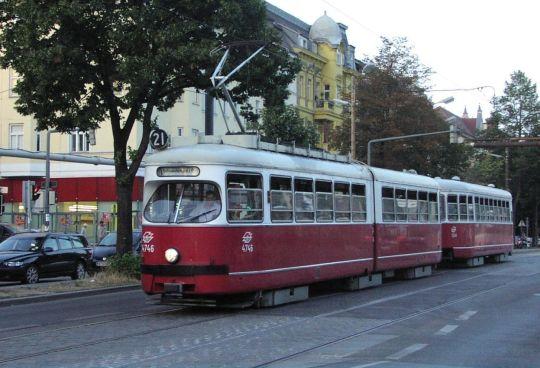 Wiedeński skład E<sub>1</sub>+c<sub>2</sub> na ulicy, gdzie już dziś nie zobaczymy tramwajów