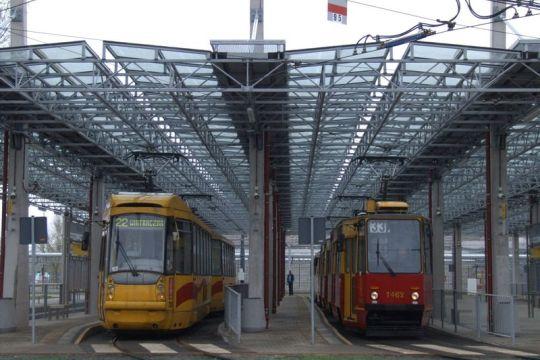 Na Młocinach tramwaje mają postój pod dachem