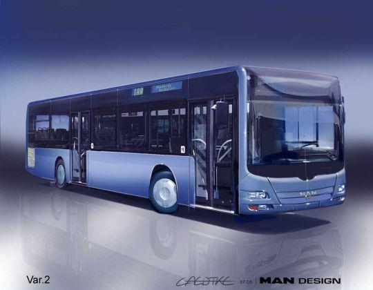 Szkic projektowy autobusu MAN Lion
