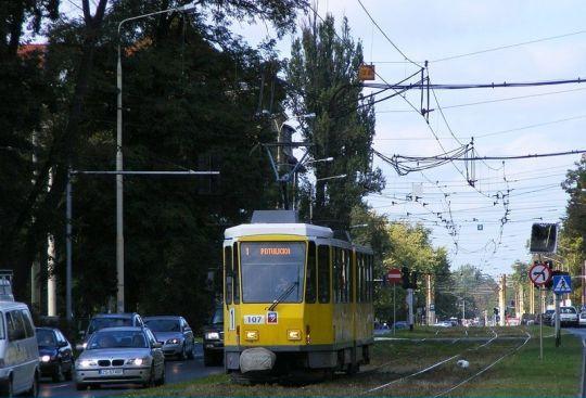 Tatra kieruje się na Potulicką