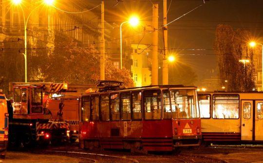 Zderzenie dwóch tramwajów na placu Sprzymierzonych