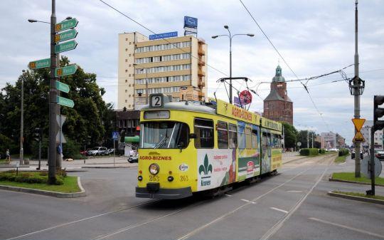 6EGTW drugiej generacji na ulicach Gorzowa Wielkopolskiego