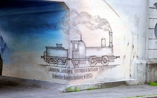 Aspekt kolejowy na wiadukcie Ostbahnu