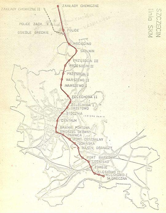 Planowany przebieg linii SKM