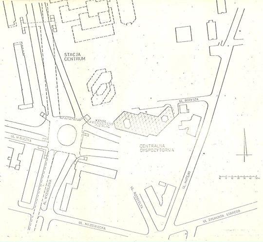 Planowana lokalizacja stacji SKM Centrum