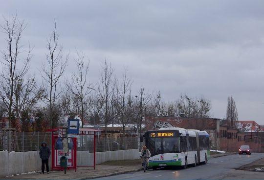 Romera to ulica, na którą linia 75 dociera