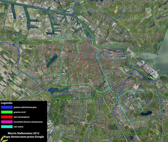 Amsterdam - mapa ogólna