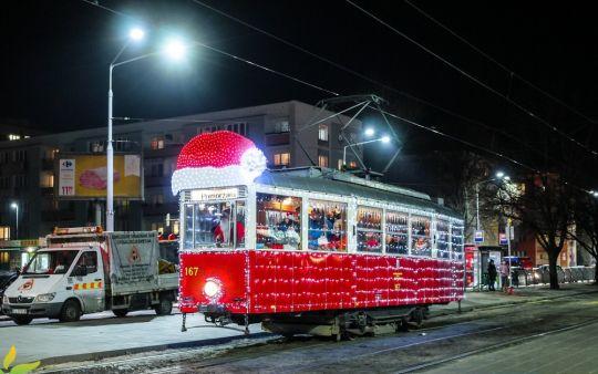 Mikołajkowy tramwaj