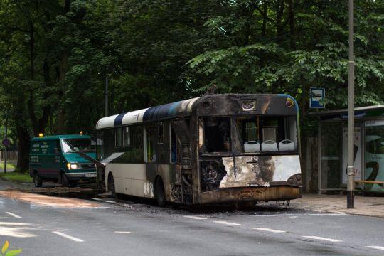 Kolejne Urbino 12 zniknie z naszych ulic z powodu pożaru