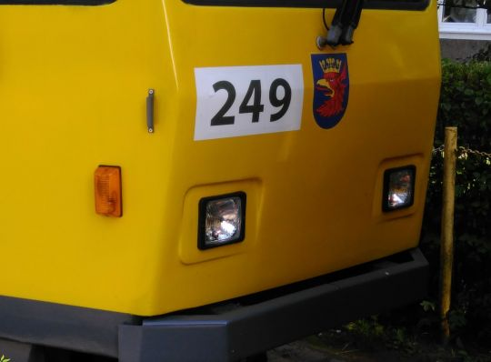 Nowe reflektory przednie w Tatrze T6A2D #249