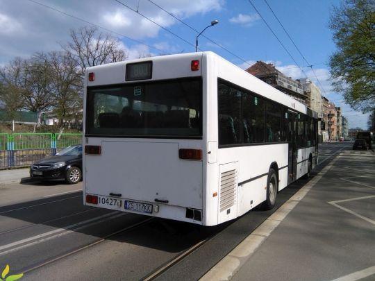 Tył jednego z dwóch Mercedesów O405NÜ w PKS Szczecin
