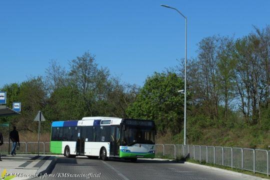 14-letni Solaris zjeżdża do zajezdni po skończonej służbie na linii 94