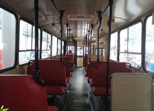 Wnętrze autobusu Jelcz PR110M #809